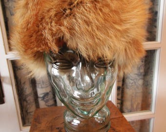 Vintage 1950's Fox Fur Hat