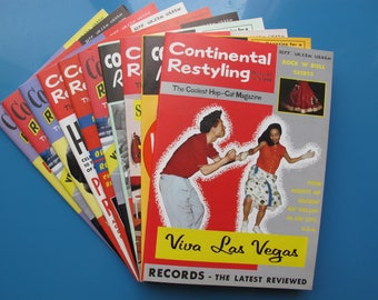 Pack of 10 copies Continental Restyling. 1950s Rockabilly magazine. Pick 10 issues of your choice from a list