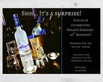 Vodka Birthday Party Invitation / Vodka Party Invitation / Vodka Invitation / Birthday Party Invitation / Mens Invitation / 40 / 50 / 30