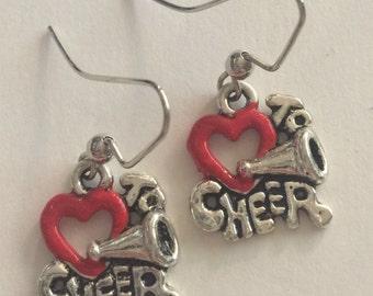 I Love to Cheer Earrings