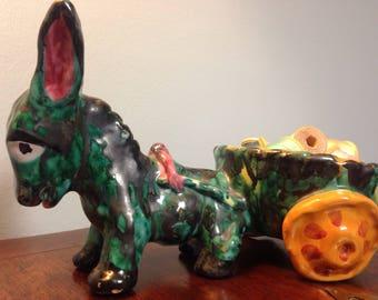 Ceramic burro planter/candy dish