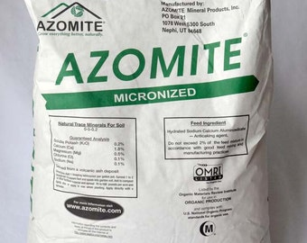 44 Pound Azomite Volcanic Ash Rock Dust Mineral Powder | OMRI Organic | 67 Trace Minerals for Enhancing Your Garden | Original Bag
