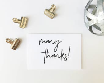 Thank You Cards, Minimalist Thank You Cards, Printed Cards, Thank You Notes, Wedding Thank You, Simple, Handwritten Font, PHYSICAL PRINT