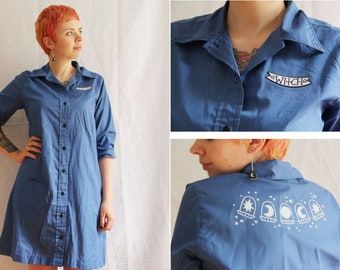 Celestial Witch OOAK Up-cycled Shirt Dress