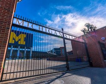 Michigan Stadium University of Michigan Ann Arbor Fine Art Photograph on Metallic Paper