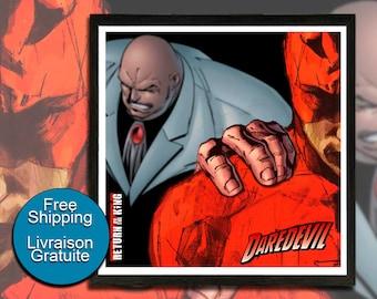 Daredevil, The Caid, Wilson Fisk, Marvel, Comics, Daredevil Illustration, Boy Room Poster, Superhero, Wall Art