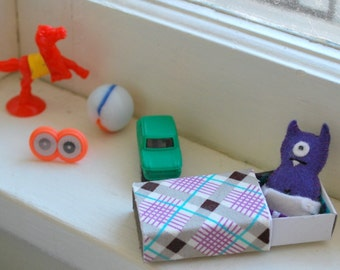 Purple Matchbox Monster with play accessories
