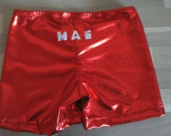 original gym shorts with inscription on the back