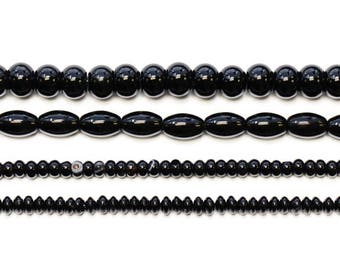 Lovely bead Black Onyx 16 inches Long Strands
