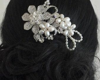 Alisa-Vintage Style Rhinestone Bridal Comb