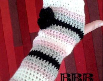 Ladies Arm Warmers Handmade Fingerless
