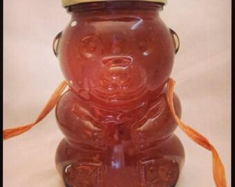 12.5oz Pecan Honey Jelly  *Glass Bear Jar*
