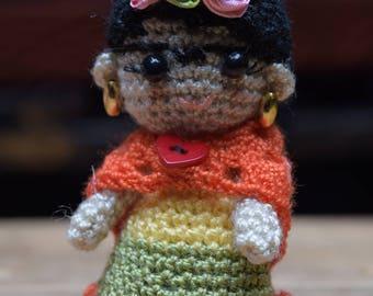 Amigurumi Mini Frida Kahlo Crochet
