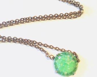 Green Vintage Bead Necklace