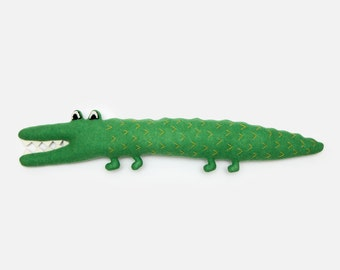 Cecil the Crocodile Lambswool Plush Toy - Made to order