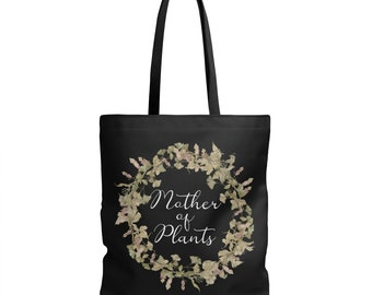 Mothers Day Gift - Garden Gifts for Mom - Gift for Mom - Black Canvas Tote Bag - Gift for Mother - Gifts for Her - Garden Gifts for Grandma