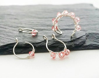Fake Piercing Set - Jewelry Gift Set - Tragus Jewelry - Lip Ring - Faux Septum Ring - Ear Cuff - Unisex Gift