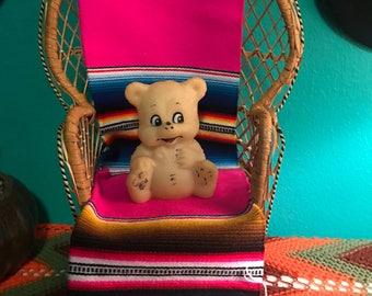 Vintage Aubin Enterprisrs Bear Rubber Squeak Toy