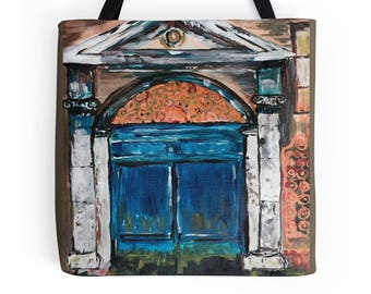 Modern Venice art tote bag, Fine Art on Canvas Tote Bag, artwork tote bag, Christmas gift tote shopping, tote office, art on your tote bag