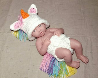 Newborn Photo Outfit Girl Unicorn - Full Set Same Price!!!