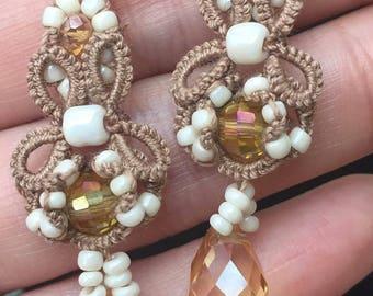 """Tatted earrings """"Butterfly"""" - Pattern"""