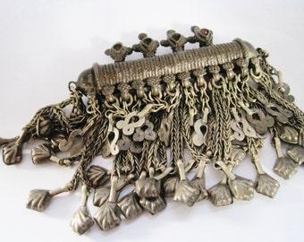 Vintage Afghan Hazara Amulet Pendant, Tribal Jewelry