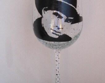 Hand Painted Wine Glass - GARTH BROOKS - Country Music Singer