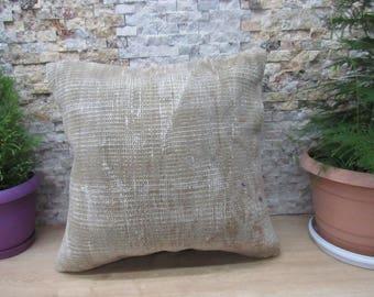 Kilim Pillow 20x20 Handmade Rug Lumbar Turkish Pillow Decorative Pillow Medium Size Chair Pillow Bohemian Pillow Ottoman Pillow Cover
