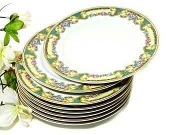 Eight Charles Ahrenfeldt Limoges Monceau Salad Dessert Plates France
