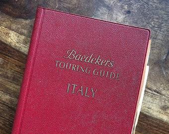 Vintage Baedeker Guide Italy Sicily Sardinia - Vintage Maps Italy - Vintage Travel Guide - Vintage Travel Decor - Vintage Travel Book Gift