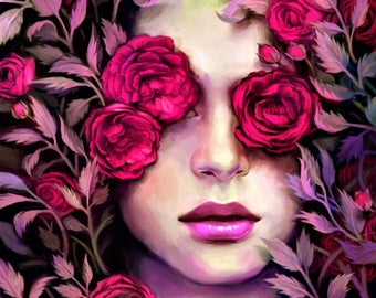 Winter Rose Perfume Oil 1/2 oz.  Winter Rose Series, Faery Queen Perfume, Fairy Perfume, Faery Perfume, Faerie Perfume, Rose Perfume