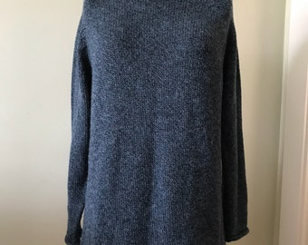 Women's Vintage Sweater / Made in Peru /   XL Wool, Alpaca, Acrylic Pullover Sweater
