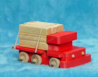 Handcrafted wooden toy truck