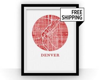 Denver Map Print - City Map Poster
