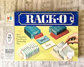 Vintage Rack-O Card Game, Milton Bradley 1966