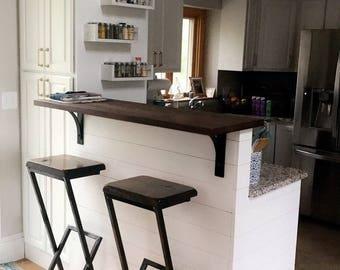"Bar stool Custom 36"", stool, barstool, chair, metal stool, metal and wood bar stool, modern stool, kitchen stool, counter stool,"