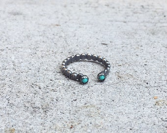 Double Turquoise in Sterling Silver