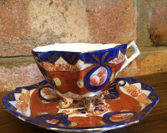 Vintage Cup and Saucer - Victoria China Bohemia