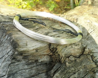 "22ga  sterling silver filled round wire, dead-soft,  5 feet,  ""green"" recycled eco-friendly, 5'"