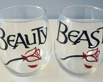 Beauty & Beast - His And Her Glasses