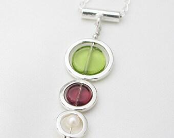 Triple circles pendant - wine country