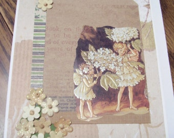 Little Fairies and Flowers card