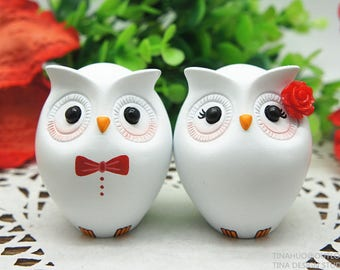 Owl Wedding Cake Topper Head To Head Style,Red Wedding Cake Topper Owl Themed,Cute Love Bird Wedding Cake Topper,Owl Wedding Gifts