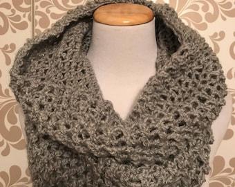 Gray Infinity scarf/hood
