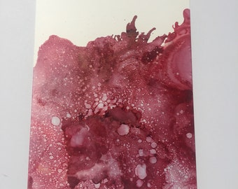 "Alcohol ink abstract painting on 5""x7"" yupo paper"