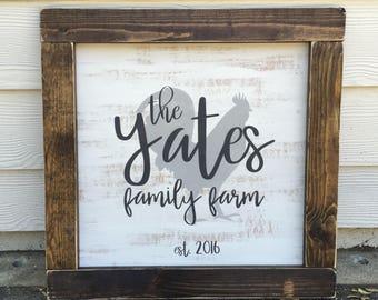 family established sign - family name sign - est sign - family farm sign - personalized family sign - rustic farmhouse handmade sign