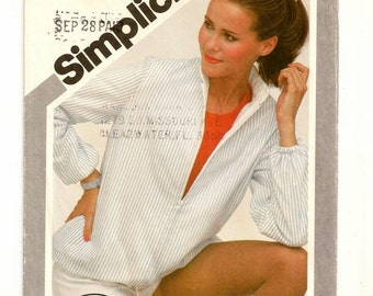 "A Reversible Zip Front Jacket Pattern with Stand-Up Collar and Bottom Hemline Drawstring for Women: Size 10, Bust 32-1/2"" • Simplicity 9978"