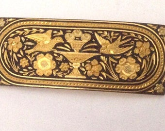 Early 20th Century Brooch in the Damascene Style