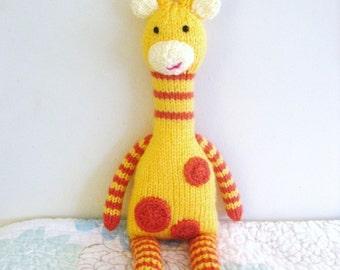 Amigurumi Knit Giraffe Pattern Digital Download