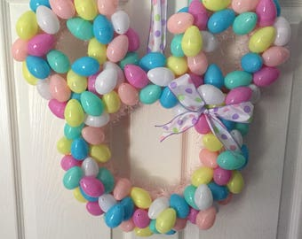 Minnie Mouse Easter Egg Wreath